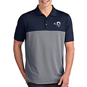Antigua Men's Los Angeles Rams Venture Navy Performance Polo