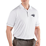 Antigua Men's Los Angeles Rams Salute White Polo