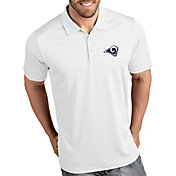 Antigua Men's Los Angeles Rams Tribute White Polo