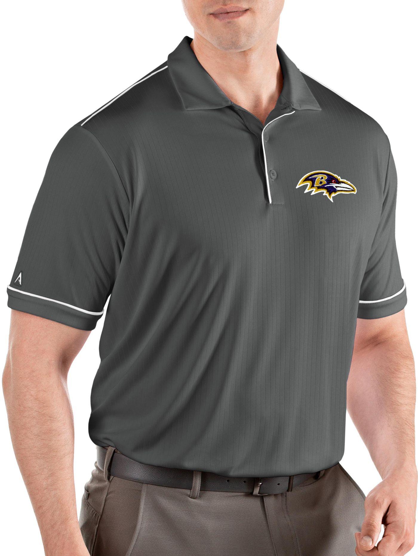 Antigua Men's Baltimore Ravens Salute Grey Polo