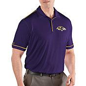 Antigua Men's Baltimore Ravens Salute Purple/Gold Polo