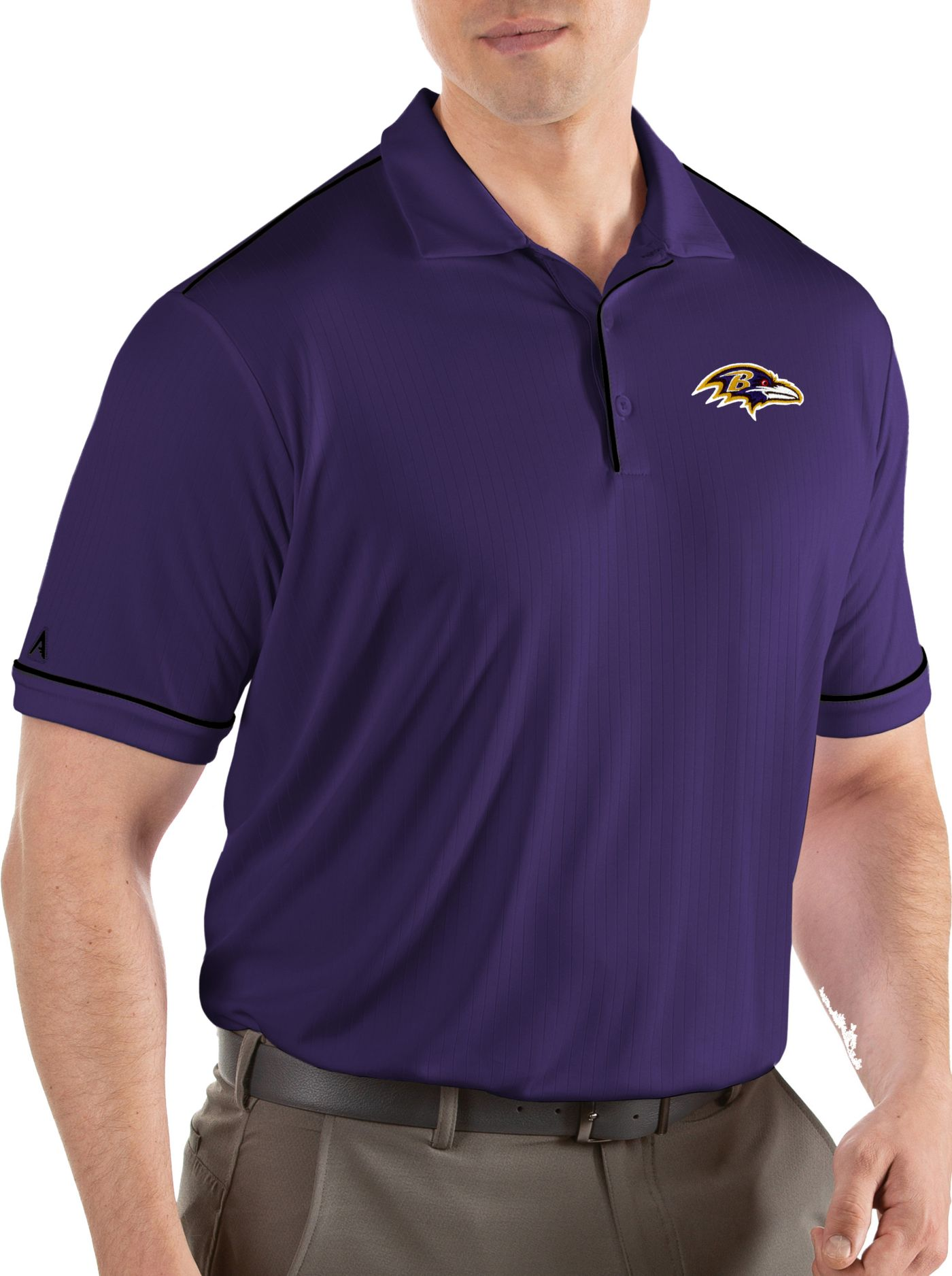 Antigua Men's Baltimore Ravens Salute Purple Polo
