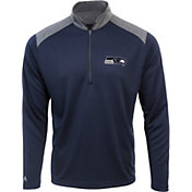 Antigua Men's Seattle Seahawks Velocity Navy Quarter-Zip Pullover