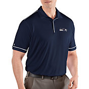 Antigua Men's Seattle Seahawks Salute Navy/White Polo