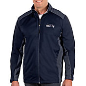 Antigua Men's Seattle Seahawks Revolve Navy Full-Zip Jacket