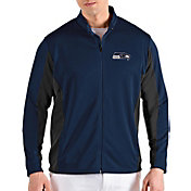 Antigua Men's Seattle Seahawks Passage Navy Full-Zip Jacket