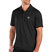 Antigua Men's New Orleans Saints Balance Black Polo