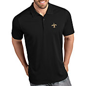 Antigua Men's New Orleans Saints Tribute Black Polo