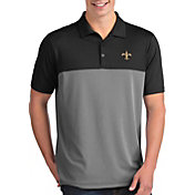 Antigua Men's New Orleans Saints Venture Black Performance Polo