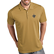 Antigua Men's New Orleans Saints Tribute Gold Polo