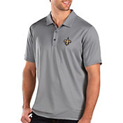 Antigua Men's New Orleans Saints Balance Grey Polo