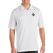 Antigua Men's New Orleans Saints Quest White Polo