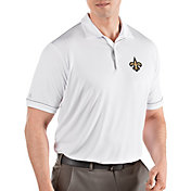 Antigua Men's New Orleans Saints Salute White Polo