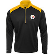 Antigua Men's Pittsburgh Steelers Velocity Black Quarter-Zip Pullover