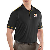Antigua Men's Pittsburgh Steelers Salute Black Polo