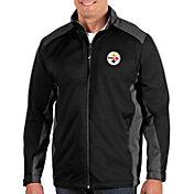 Antigua Men's Pittsburgh Steelers Revolve Black Full-Zip Jacket