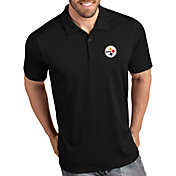 Antigua Men's Pittsburgh Steelers Tribute Black Polo