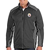Antigua Men's Pittsburgh Steelers Revolve Charcoal Full-Zip Jacket