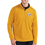 Antigua Men's Pittsburgh Steelers Glacier Gold Quarter-Zip Pullover