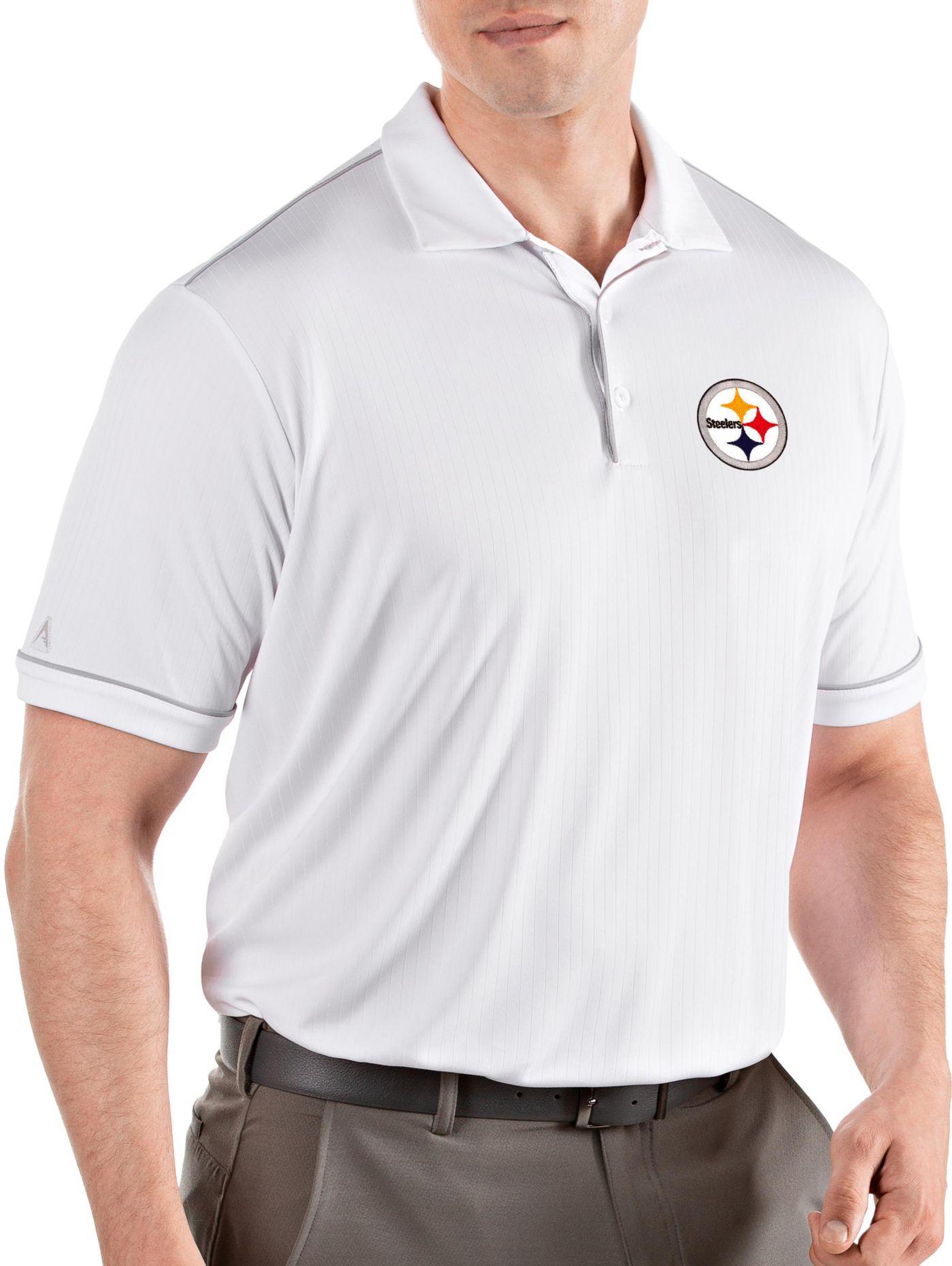 Antigua Men's Pittsburgh Steelers Salute White Polo