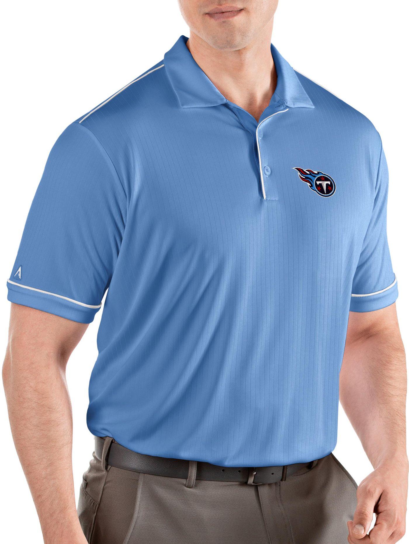 Antigua Men's Tennessee Titans Salute Blue Polo