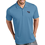Antigua Men's Tennessee Titans Tribute Blue Polo