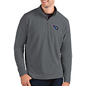 Antigua Men's Tennessee Titans Glacier Grey Quarter-Zip Pullover