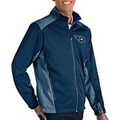 Antigua Men's Tennessee Titans Revolve Navy Full-Zip Jacket