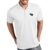Antigua Men's Tennessee Titans Tribute White Polo