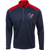 Antigua Men's Houston Texans Velocity Navy Quarter-Zip Pullover