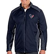Antigua Men's Houston Texans Revolve Navy Full-Zip Jacket
