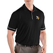Antigua Men's Minnesota Vikings Salute Black Polo