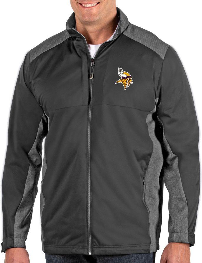 quality design e97e8 9c6ba Antigua Men's Minnesota Vikings Revolve Charcoal Full-Zip Jacket
