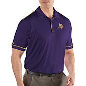Antigua Men's Minnesota Vikings Salute Purple Polo