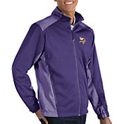 Antigua Men's Minnesota Vikings Revolve Purple Full-Zip Jacket