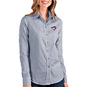 Antigua Women's Toronto Blue Jays Structure Button-Up Royal Long Sleeve Shirt