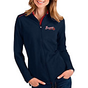 Antigua Women's Atlanta Braves Navy Glacier Full-Zip Jacket