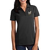 Antigua Women's Milwaukee Brewers Tribute Grey Performance Polo
