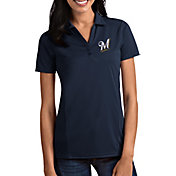 Antigua Women's Milwaukee Brewers Tribute Navy Performance Polo