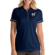 Antigua Women's Milwaukee Brewers Salute Navy Performance Polo