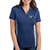 Antigua Women's Milwaukee Brewers Venture Navy Performance Polo