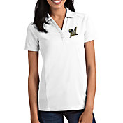 Antigua Women's Milwaukee Brewers Tribute White Performance Polo