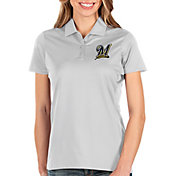 Antigua Women's Milwaukee Brewers White Balance Polo
