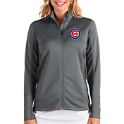 Antigua Women's Chicago Cubs Grey Passage Full-Zip Jacket