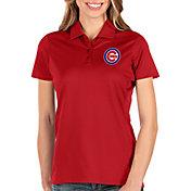 Antigua Women's Chicago Cubs Red Balance Polo