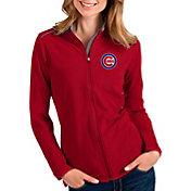 Antigua Women's Chicago Cubs Red Glacier Full-Zip Jacket
