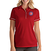 Antigua Women's Chicago Cubs Salute Red Performance Polo