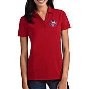 Antigua Women's Chicago Cubs Tribute Red Performance Polo
