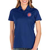 Antigua Women's Chicago Cubs Royal Balance Polo