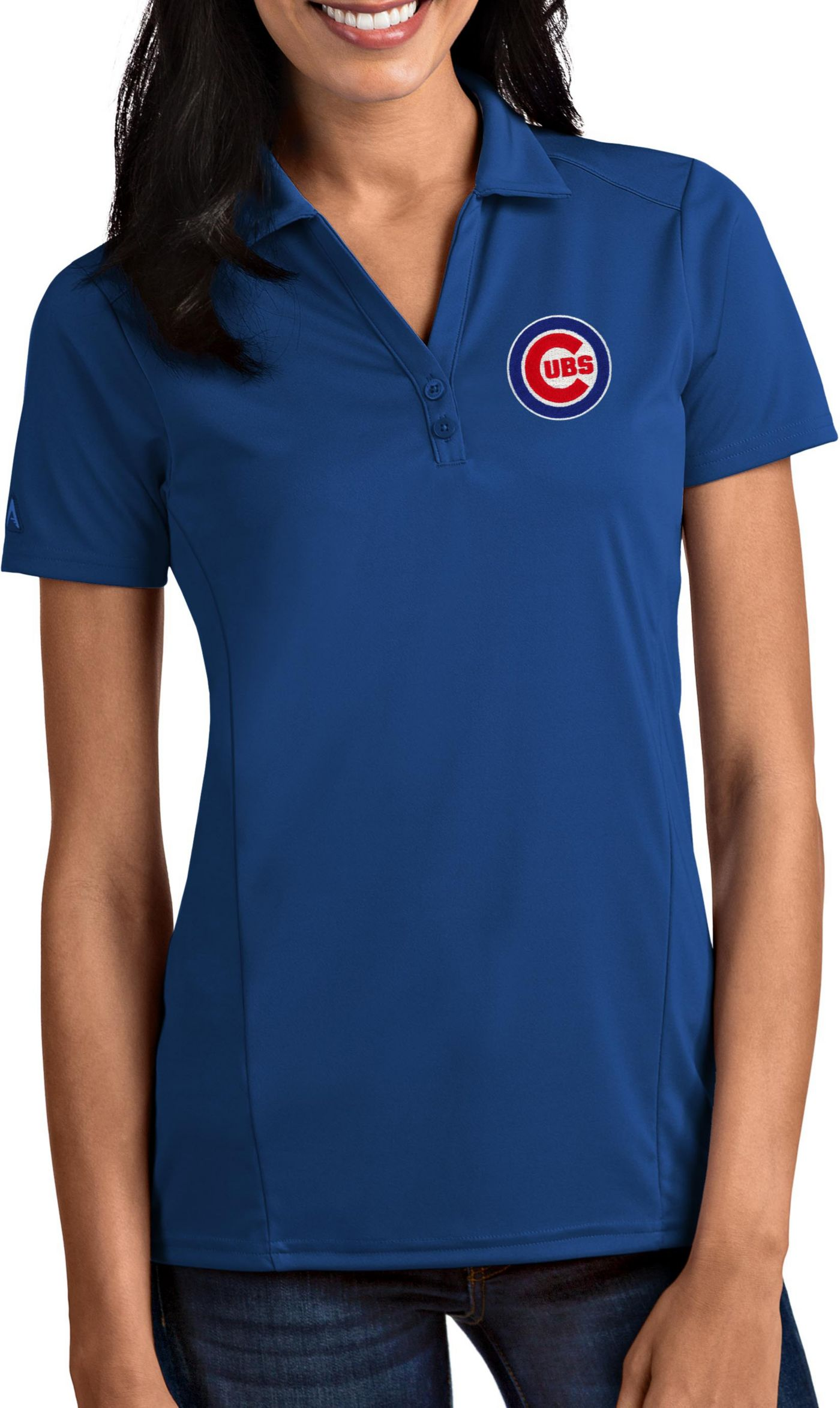 Antigua Women's Chicago Cubs Tribute Royal Performance Polo